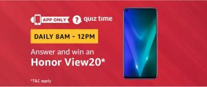 Amazon Quiz 27 February 2019 Answers – Win Honor View20
