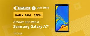 Amazon Quiz 3 March 2019 Answers – Win Samsung Galaxy A7